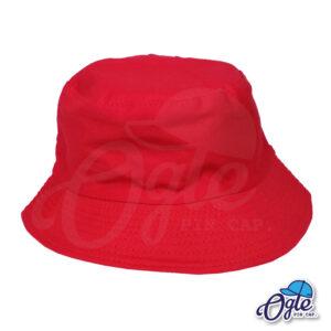 หมวกบักเก็ต สีแดง สีพื้น หมวกเปล่า ราคาส่ง