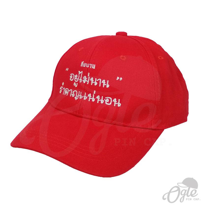หมวกปักชื่อ-หมวกผ้าพีช-cotton-ปักชื่อทีม-2