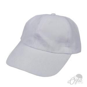 หมวกแก๊ป-ผ้าดีวาย-สีขาว-ด้านข้าง