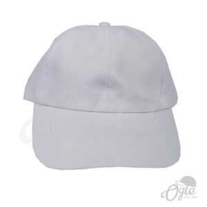 หมวกแก๊ป-ผ้าดีวาย-สีขาว-ด้านหน้า