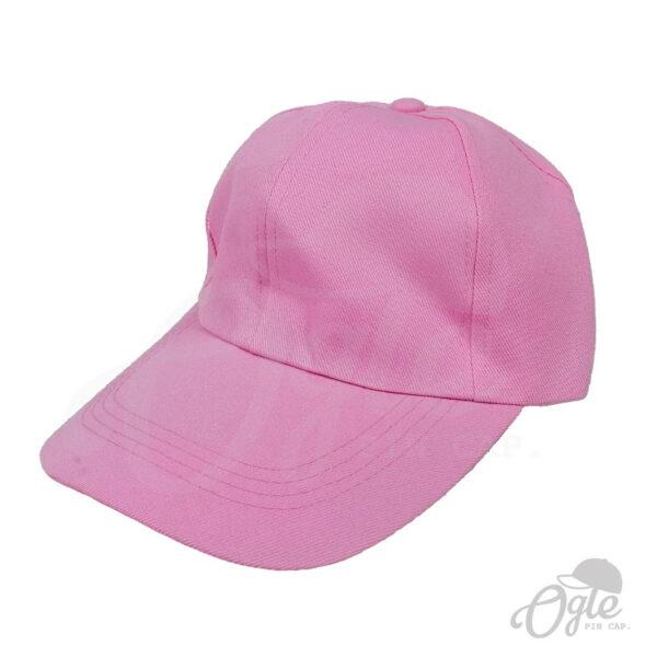 หมวกแก๊ป-ผ้าดีวาย-สีชมพูอ่อน-ด้านข้าง
