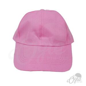หมวกแก๊ป-ผ้าดีวาย-สีชมพูอ่อน-ด้านหน้า