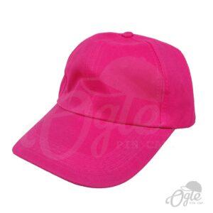 หมวกแก๊ป-ผ้าดีวาย-สีชมพู-ด้านข้าง