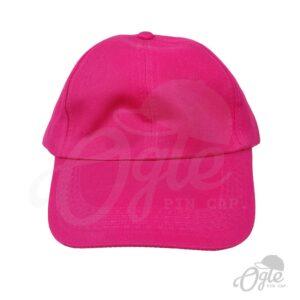 หมวกแก๊ป-ผ้าดีวาย-สีชมพู-ด้านหน้า