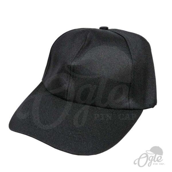 หมวกแก๊ป-ผ้าดีวาย-สีดำ-ด้านข้าง