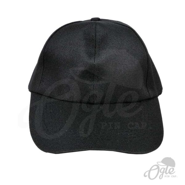 หมวกแก๊ป-ผ้าดีวาย-สีดำ-ด้านหน้า