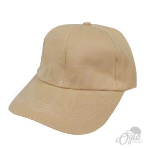 หมวกแก๊ป-ผ้าดีวาย-สีน้ำตาลอ่อน-ด้านข้าง