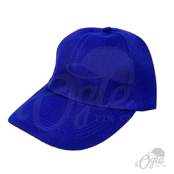 หมวกแก๊ป-ผ้าดีวาย-สีน้ำเงิน-ด้านข้าง