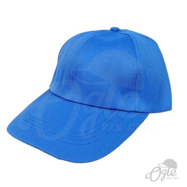หมวกแก๊ป-ผ้าดีวาย-สีฟ้า-ด้านข้าง