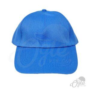 หมวกแก๊ป-ผ้าดีวาย-สีฟ้า-ด้านหน้า