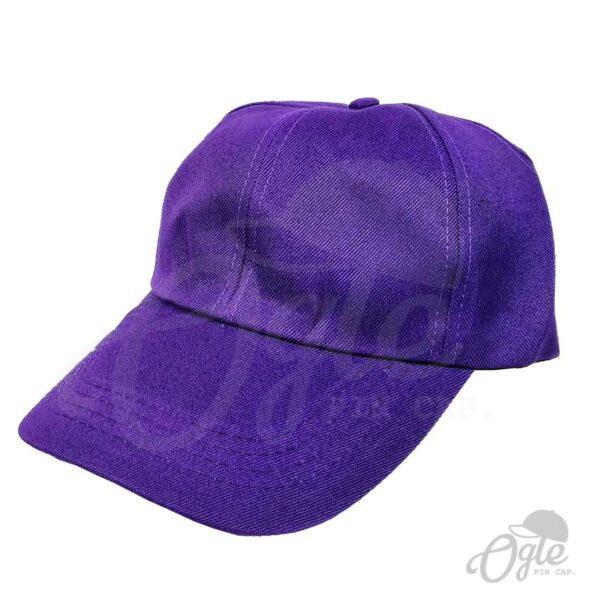 หมวกแก๊ป-ผ้าดีวาย-สีม่วง-ด้านข้าง