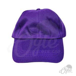 หมวกแก๊ป-ผ้าดีวาย-สีม่วง-ด้านหน้า