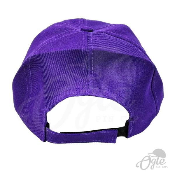 หมวกแก๊ป-ผ้าดีวาย-สีม่วง-ด้านหลัง
