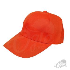 หมวกแก๊ป-ผ้าดีวาย-สีส้ม-ด้านข้าง