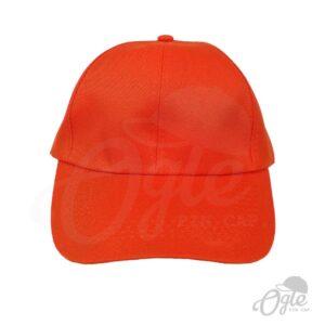 หมวกแก๊ป-ผ้าดีวาย-สีส้ม-ด้านหน้า