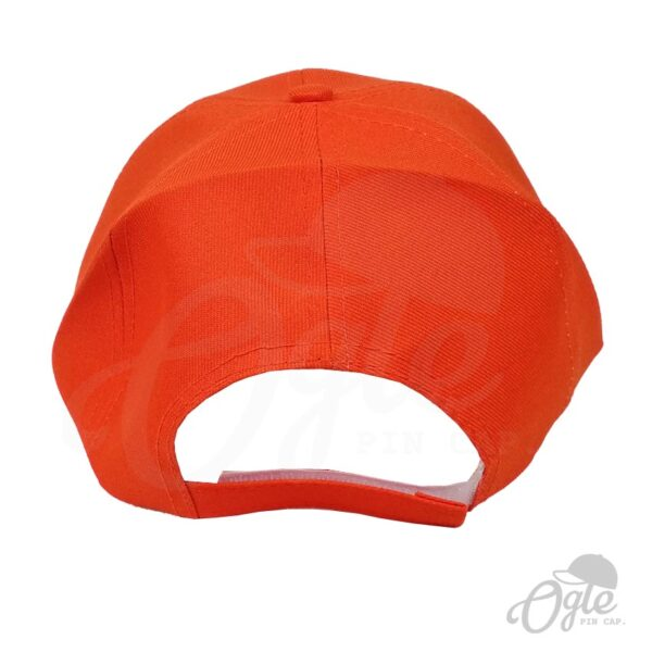 หมวกแก๊ป-ผ้าดีวาย-สีส้ม-ด้านหลัง