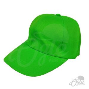 หมวกแก๊ป-ผ้าดีวาย-สีเขียว-ด้านข้าง