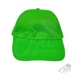 หมวกแก๊ป-ผ้าดีวาย-สีเขียว-ด้านหน้า