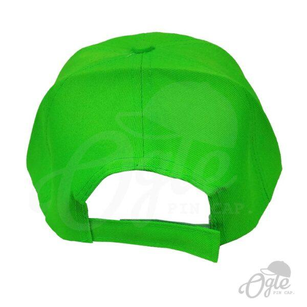 หมวกแก๊ป-ผ้าดีวาย-สีเขียว-ด้านหลัง