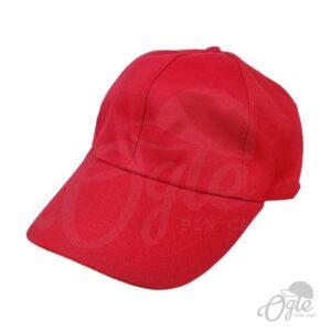 หมวกแก๊ป-ผ้าดีวาย-สีแดง-ด้านข้าง