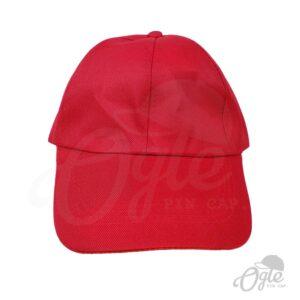 หมวกแก๊ป-ผ้าดีวาย-สีแดง-ด้านหน้า