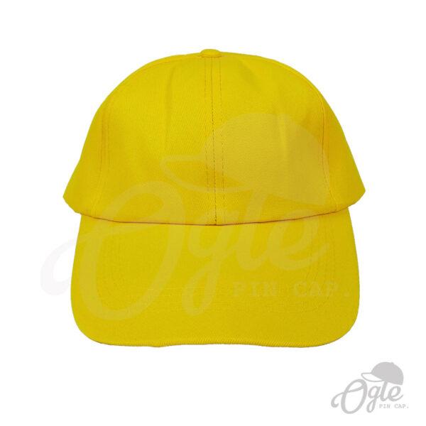 หมวกแก๊ป-ผ้าดีวาย-เหลือง-ด้านหน้า