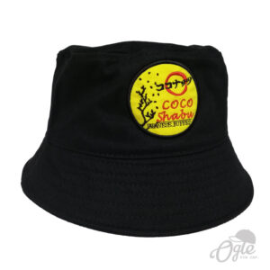 หมวกบักเก็ต-ปักโลโก้-coco-shabu-ด้านข้าง