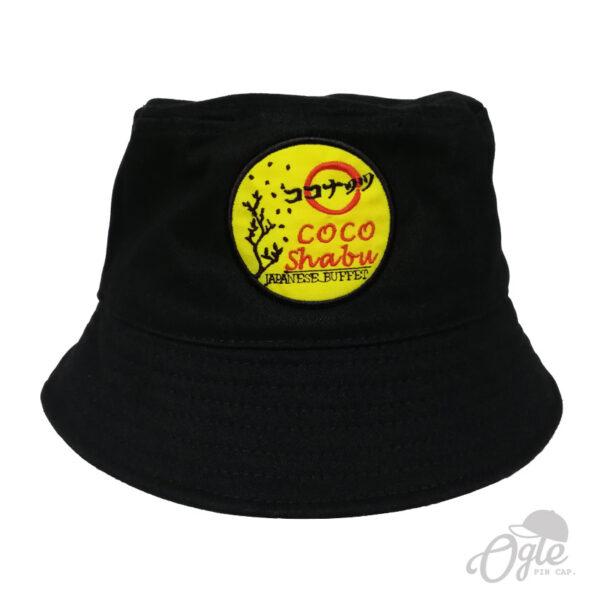 หมวกบักเก็ต-ปักโลโก้-coco-shabu