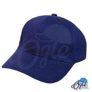 หมวกผ้าพีช-สีกรมท่า-ด้านข้าง-ตัวล็อคบัคเคิ้ลเหล็ก