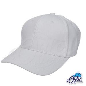 หมวกผ้าพีช-สีขาว-ด้านข้าง-ตัวล็อคบัคเคิ้ลเหล็ก