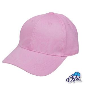 หมวกผ้าพีช-สีชมพู-ด้านข้าง-ตัวล็อคบัคเคิ้ลเหล็ก