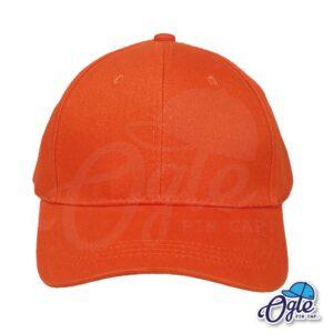 หมวกผ้าพีช-สีชมพู-ด้านหน้า-ตัวล็อคบัคเคิ้ลเหล็ก