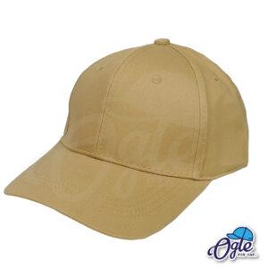 หมวกผ้าพีช-สีน้ำตาล-ด้านข้าง-ตัวล็อคบัคเคิ้ลเหล็ก