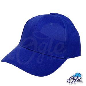 หมวกผ้าพีช-สีน้ำเงิน-ด้านข้าง-ตัวล็อคบัคเคิ้ลเหล็ก