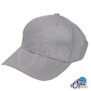 หมวกผ้าพีช-สีเทา-ด้านข้าง-ตัวล็อคบัคเคิ้ลเหล็ก