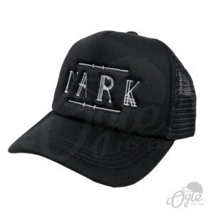 หมวกตาข่าย ปักหมวก หมวกปักโลโก้ DARK หมวกสีดำ ด้านข้าง