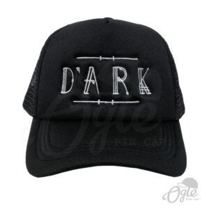 หมวกตาข่าย ปักหมวก หมวกปักโลโก้ DARK หมวกสีดำ ด้านหน้า
