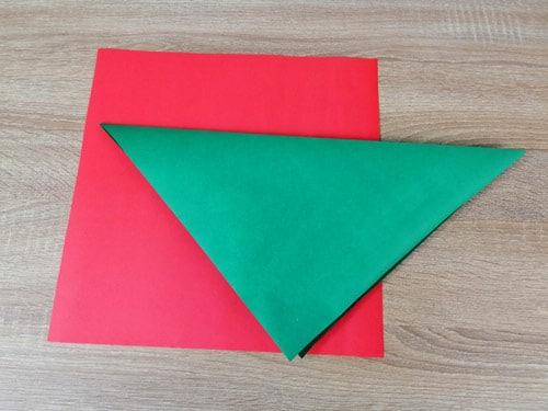 วิธีทำหมวกกระดาษ พับหมวกสีแดงและสีเขียว