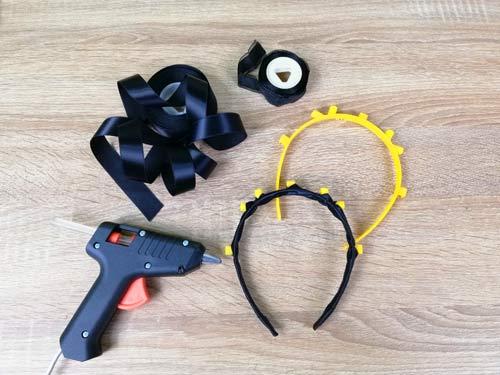 ริบบิ้น-ปืนกาว-ที่คาดผม-สำหรับทำ-หมวกกระดาษ