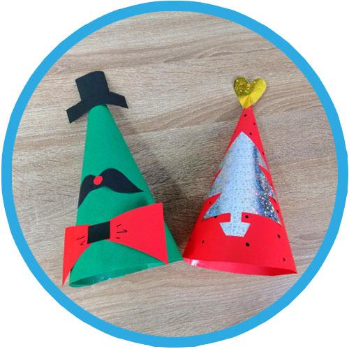 วิธีทำหมวกกระดาษ diy ปีใหม่ 02