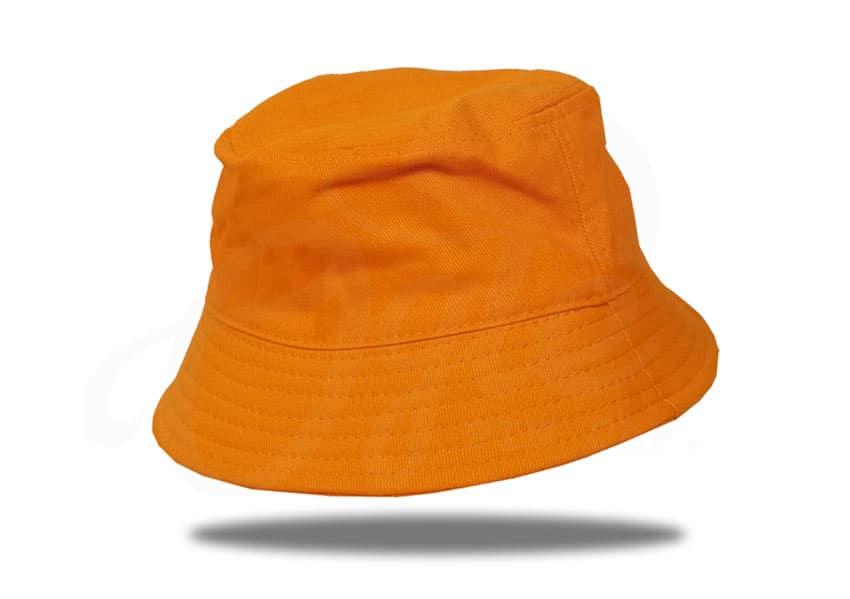 ประเภทของหมวก-หมวกบักเก็ต-สีส้ม