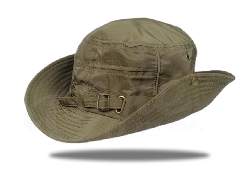 ประเภทของหมวก-หมวกเดินป่า-หมวกปีกรอบ-สีเขียวขี้ม้า