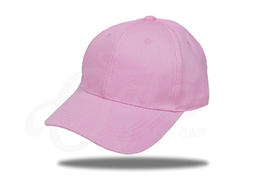 ประเภทของหมวก-หมวกแก๊ป-ผ้าพีช-cotton-100-สีชมพู