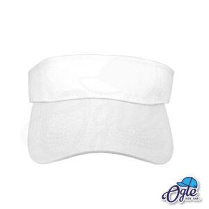 หมวกวิ่ง-หมวกครึ่งใบ-หมวกเปิดหัว-หมวกไวเซอร์-visor-สีขาว-ด้านหน้า