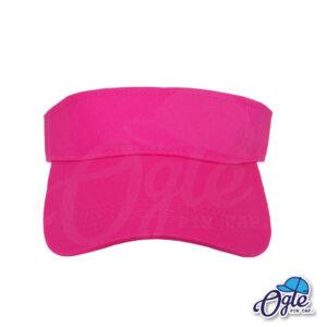 หมวกวิ่ง-หมวกครึ่งใบ-หมวกเปิดหัว-หมวกไวเซอร์-visor-สีชมพู-ด้านหน้า