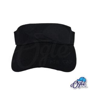 หมวกวิ่ง-หมวกครึ่งใบ-หมวกเปิดหัว-หมวกไวเซอร์-visor-สีดำ-ด้านหน้า