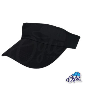 หมวกวิ่ง-หมวกครึ่งใบ-หมวกเปิดหัว-หมวกไวเซอร์-visor-สีดำ-เอียงข้าง
