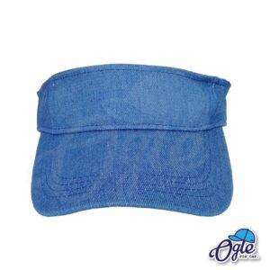 หมวกวิ่ง-หมวกครึ่งใบ-หมวกเปิดหัว-หมวกไวเซอร์-visor-สียีนส์-น้ำเงิน-หมวกยีนส์-ด้านหน้า