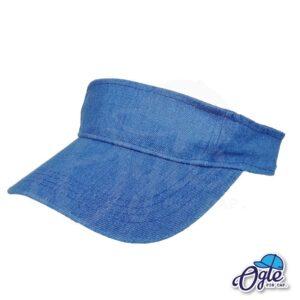 หมวกวิ่ง-หมวกครึ่งใบ-หมวกเปิดหัว-หมวกไวเซอร์-visor-สียีนส์-น้ำเงิน-หมวกยีนส์-เอียงข้าง