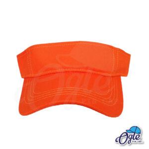 หมวกวิ่ง-หมวกครึ่งใบ-หมวกเปิดหัว-หมวกไวเซอร์-visor-สีส้ม-ด้านหน้า